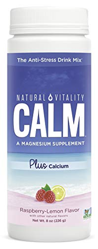 Natural Vitality Calm PLUS Calcium Supplement Powder, Raspberry Lemon- 8 ounce (Packaging May Vary)