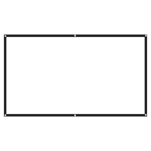 Schermo per videoproiettore, Crease Indoor Outdoor Projection 16:9 Schermo per proiettore portatile HD per cortile di casa per teatro Outdoor Indoor(60in)