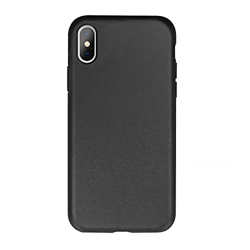 FOREVER Hülle Kompatibel mit iPhone X/XS, Schutzhülle aus Biologisch Abbaubar Materialien, Bio Case Anti-Kratz, Stoßfestes Bumper, Umweltfreundliche Handyhülle, Rückseite Cover (Schwarz)