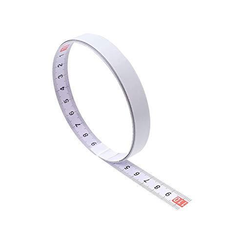 1 Stück 1/2/3/5m Selbstklebend Maßband Messen Sie das metrische Stahllineal für Werkbänke, Sägetische, Maschinen