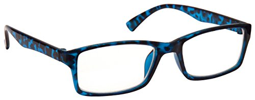 The Reading Glasses The Reading Glasses Company Blau Schildpatt Kurzsichtig Fernbrille Für Kurzsichtigkeit Designer Stil Herren Frauen M92-3 -2, 00 / Blau Schildpatt