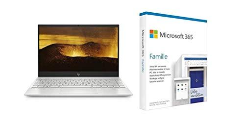 "HP Envy 13-aq1015nf PC Ultraportable 13,3"" FHD IPS Argent (Intel Core i7, RAM 8 Go, S + Microsoft 365 Famille   Box"