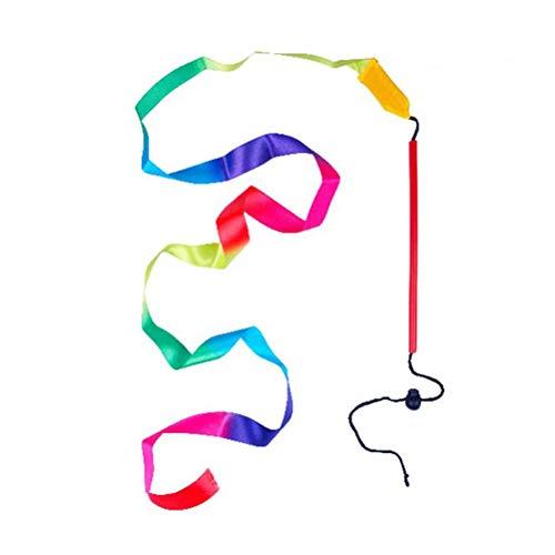 LIOOBO Cinta de Gimnasia rítmica Ajustable de 1pc Art con Bastones niños Bailando serpentinas Riband Varilla giratoria