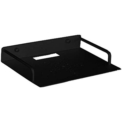 DELITLS Estante de aluminio de montaje en pared, reproductor de DVD de una sola capa, soporte de aluminio para el hogar enrutador de la caja de TV