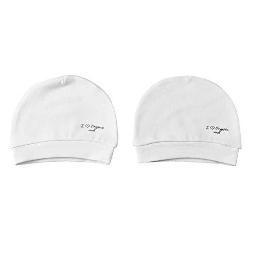 Sevira Kids - Lot de 2 bonnets bébé en coton biologique