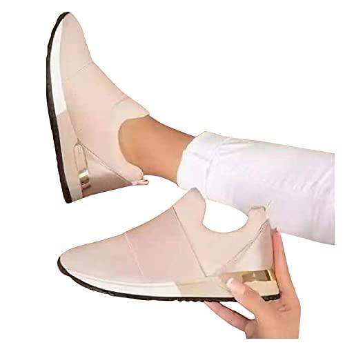 Flu Zapatillas Mujer Casual Deportivas Caminar para Mujer Slip on Calzado de Uela Blanda Transpirable Deporte Zapatos de Correr Running Sneakers Ligeras Zapato 36-43
