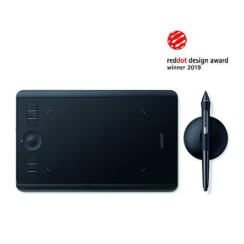 Wacom Intuos Pro S Tableta gráfica - Tableta profesional pequeña con lápiz Wacom Pro Pen 2 y puntas de repuesto, premiada por mejor diseño de producto, óptima para oficina en casa y e-learning