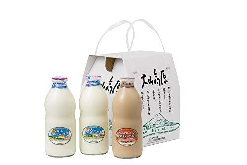 ギフトミルクAセット 特選大山おいしい牛乳 カフェオレセット (熨斗無)
