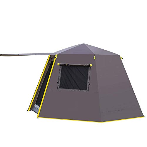 Dhmm123 Durable Camping Tent Camping Tent, 5-8 People Set Up, Waterproof Tent, Advanced Venting Design 330x 330x 195CM,Easy to Install (Color : Brown)