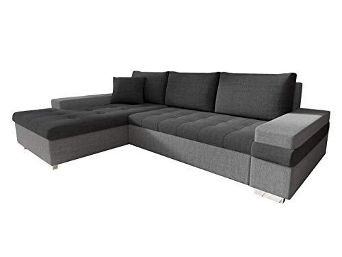 Mirjan24 Design Ecksofa Bangkok Mini, Moderne Eckcouch mit Schlaffunktion und Bettkasten, schwerentflammbar Stoff, Ecksofa für Wohnzimmer, Gästezimmer, Couch L-Form, Wohnlandschaft, (Lux 05 + Lux 06)