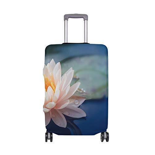 LUPINZ Suicase Abdeckung Lotusblüte im Teich Gepäck Abdeckung