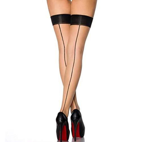 Liusdh damen strumpfhosen Mode Sexy s Dessous Netz Oberschenkel Strumpf Dessous Strumpfband strümpfe(Beige,Free)