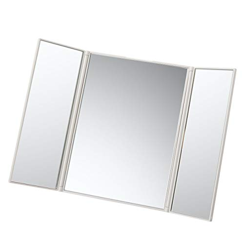 MUJI Klappbare Spiegel, Glas, Weiß, Mittel
