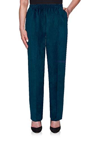 Alfred Dunner Classics Elastic Waist Corduroy Pants Mallard 18 M