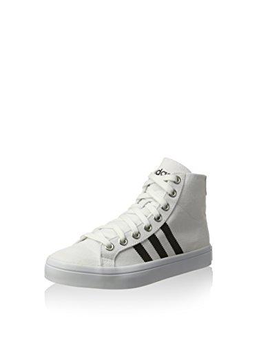 adidas Herren Courtvantage Mid Basketballschuhe, FTWR White Core Black Metallic Silver SLD, 40 EU