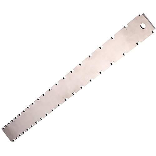 Edelstahl-gitarren-ansatz Kerb Straight Edge Gitarre Fret Lineal Silber Doppel-skala Messwerkzeug Für Luthiers Mess Fretboard Und Frets, Gitarre Werkzeuge Set