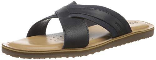 Geox U Artie A, Slide Sandal Uomo, Blu Navy, 42 EU