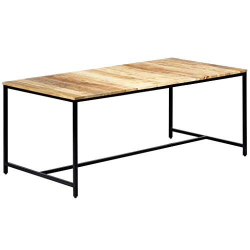 N / A Esszimmertisch 180 x 90 x 75 cm aus Mango-Holz, Massiv Esstisch, Industrie-Stil Küchentisch Massivholztisch Speisetisch Tisch Esszimmer Küche