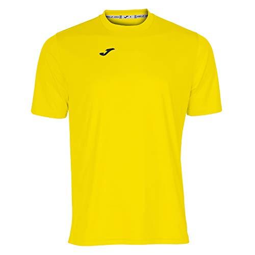 Joma Combi Camiseta Manga Corta, Hombre, Amarillo, XL