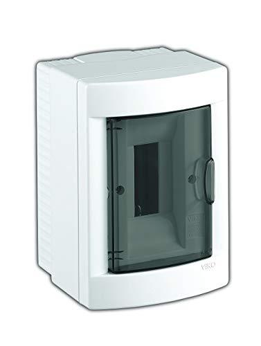 Aufputz Kleinverteiler 2 Module / Sicherungskasten / Verteilerkasten Aufputz IP40, 1-reihig mit Hutschiene