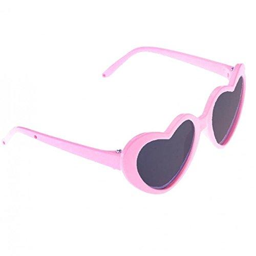 MagiDeal schöne Puppen Brille Sonnenbrille mit Herz Rahmen für 18 '' Puppen - Pink
