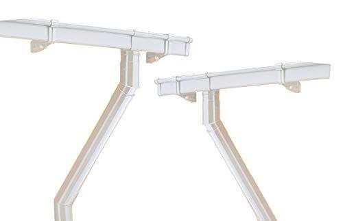 INEFA Dachrinnen Set Gartenhaus, kastenförmig, 2 Dachseiten, NW68 Weiß bis 2 x 3m - aus Kunststoff, Regenrinne für Satteldach, Komplettset
