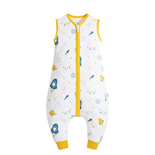 Taotigzu - Saco de dormir para bebé (100% algodón, 0,5 tog, sin mangas, mono unisex para verano