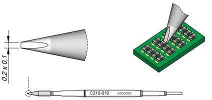 Jbc C210019 – Punta de soldar para cincel T210