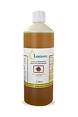 Lubrisolve Online Linseed Oil - 100% pure, cold pressed Linseed Oil - 1 litre