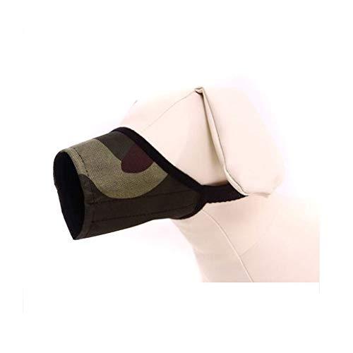HENG Hond Muzzles Suit, Grijs Comfortabele Ademende Doek Muzzles Suit, Drinkbare En Duurzame Hond Muzzles Pak (donkergroen, Zwart, Nee 1) Muilkorven Pak voor Kleine Medium Grote Extra Hond, 1, Zwart