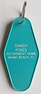 """The Golden Girls Shady Pines Inspired Key Tag""""Thank you For Being a Friend"""" Teal/White"""