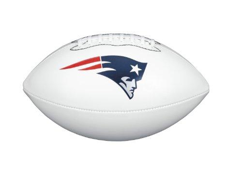 NFL Team Logo Autograph Football New England Patriots