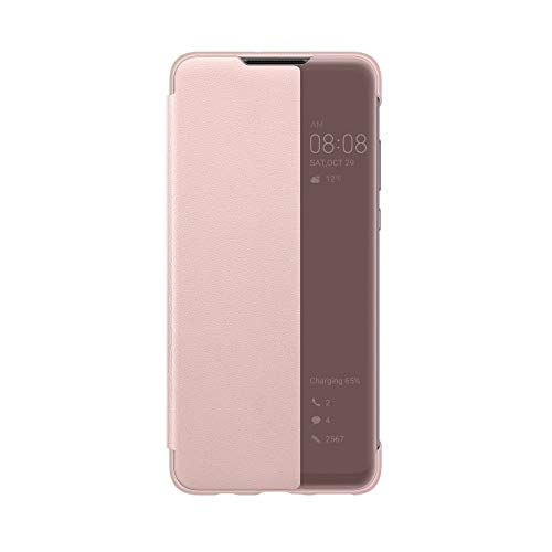 COTDINFOR Huawei P10 Lite Coque Ultra Mince Plating Mirror Makeup Coque Clear View Folio Portefeuille Antichoc Leather Housse Flip Cover pour Huawei P10 Lite Mirror PU Rose Gold MX.