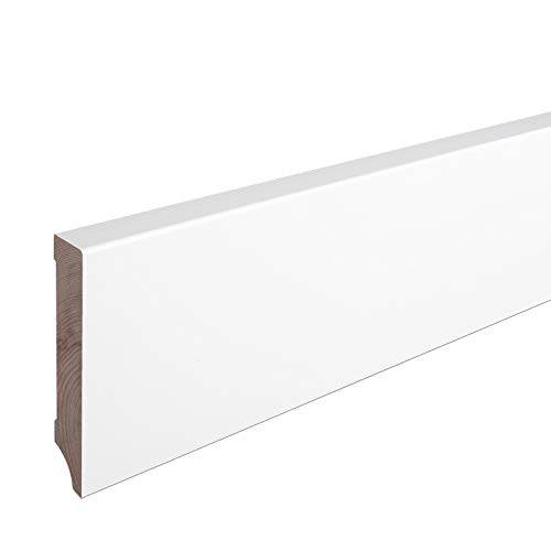 Sockelleiste Massiv Holz Buche weiß lackiert Weimarer Profil Modern 100mm