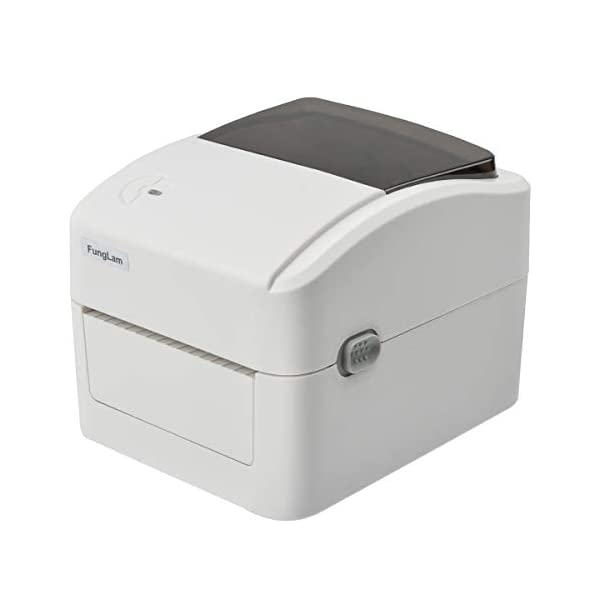 FungLam 420B Label Printer, 4×6 Printer, Barcode Printer, High Speed Commercial Direct Thermal Printer, Compatible with Amazon, Ebay, Etsy, Shipify – White
