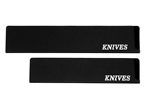 Knives Messerschutz Universal Set 2-Stück für Messer, Brotmesser, Schinkenmesser, Gemüsemesser, Kochmesser, perfekt als Klingenschutz für die Schublade