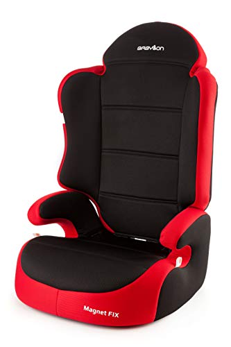 Babylon Magnet Fix Autokindersitz Gruppe 2/3, 15-36kg Kindersitz mit Isofix Autositz Einstellbare Kopfstütze ECE R44/04 Rot