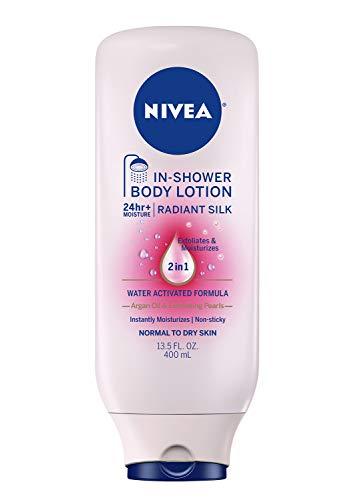 NIVEA Radiant Silk In Shower Body Lotion 135 Fluid Ounce