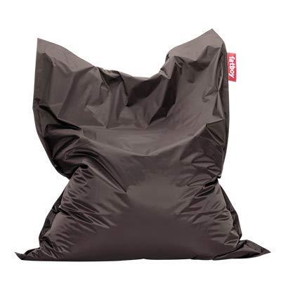 Fatboy® Original Sitzsack Dark Grey | Klassische Indoor Beanbag, Sitzkissen in Grau | 180 x 140 cm