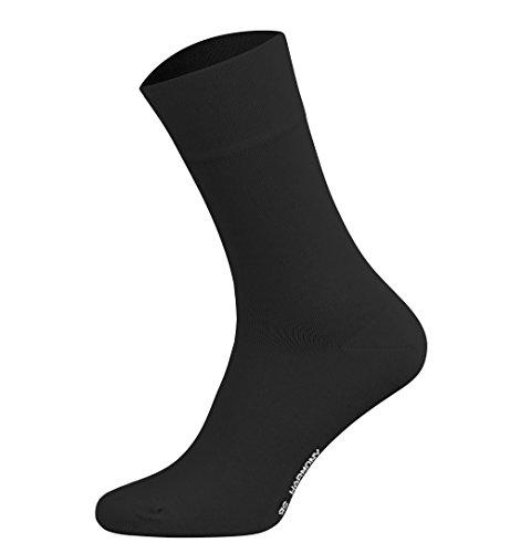 Tobeni 6 Paar Herren Baumwollsocken Komfortb& Socken ohne Gummi Businesssocken Farbe Schwarz Grösse 52-54