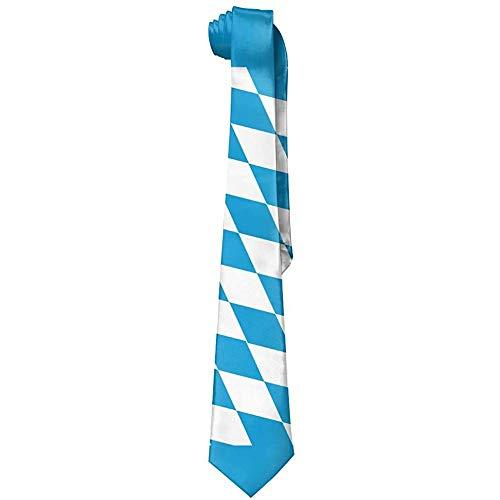 Lzz-Shop klassieke zijden stropdassen van de Beierse vlaggen-mannen gepersonaliseerde cadeau-stropdassen