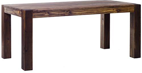 Brasilmöbel Esstisch Rio Kanto 180x90 cm Eiche antik Pinie Massivholz Größe und Farbe wählbar Esszimmertisch Küchentisch Holztisch Echtholz vorgerichtet für Ansteckplatten Tisch ausziehbar