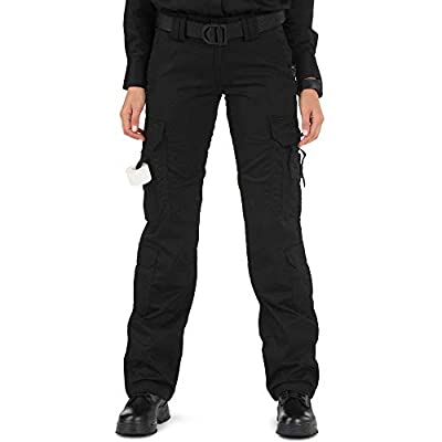 5.11 Tactical Women's Taclite Lightweight EMS Pants, Adjustable Waistband, Teflon Finish, Style 64369 Black