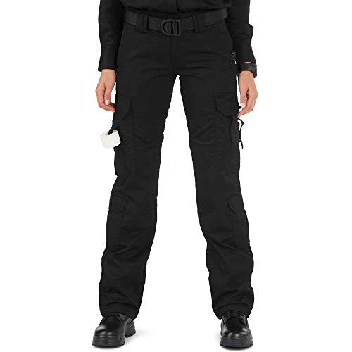 5.11 Tactical Women's Taclite Lightweight EMS Pants, Adjustable Waistband, Teflon Finish, Style 64369, Black, 10