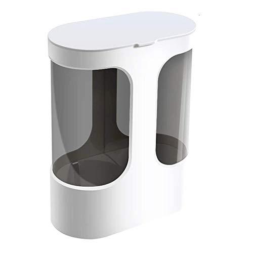 Dispensador de Vasos Desechables, dispensador de plástico para Paredes o Papel Tapiz, dispensador de portavasos desechable a Prueba de Polvo e Impermeable, con 2 portavasos