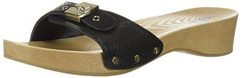 Dr. Scholl's Shoes womens Classic Sandal, Black Snake Print, 7 US