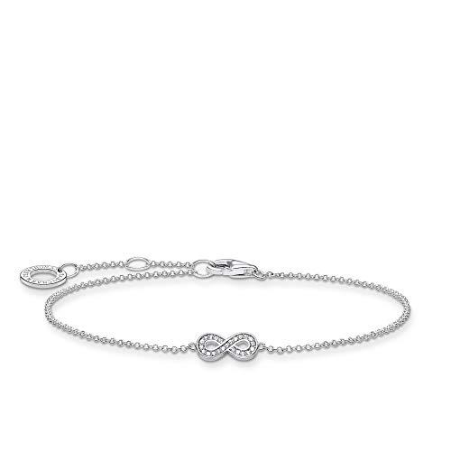 Thomas Sabo Armband Infinity silber, 925 Sterlingsilber, 16-19 cm Länge