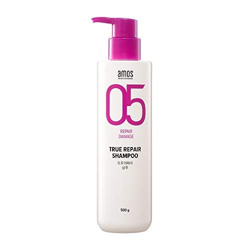 AMOS PROFESSIONAL True Repair Shampoo 500ml (16.9 fl. oz) | Korean Luxury Hair Brand | Gently Washes Damaged and Rough Hair | Professional Care