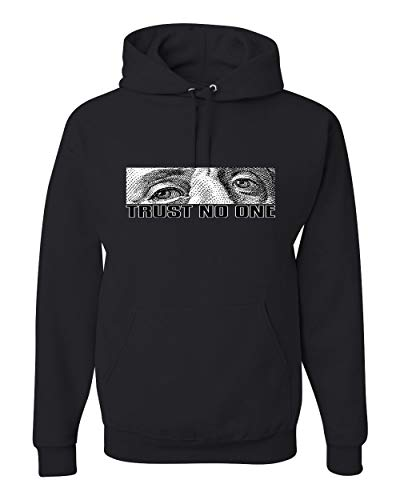 Trust No One Funny Benjamin Franklin | Cash Money Ben Franklins Pun | Mens Streetwear Hooded Sweatshirt Graphic Hoodie, Black, Large (Best Money Making Methods Runescape)