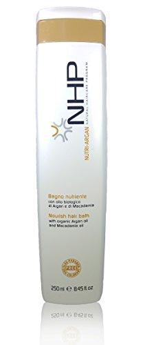 NHP Nutri Argan Nourishing Shampoo with Macadamia Oil (Dry and Colored Hair) (250ml / 8.45oz) by NHP